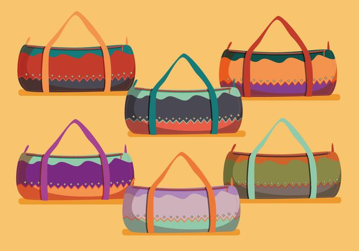 Designer duffle bag vectors