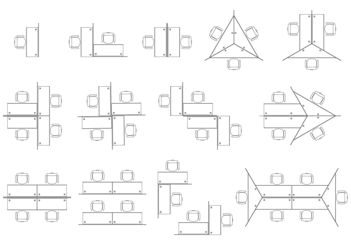 Office Cubicles Vectors Download Free Vector Art Stock