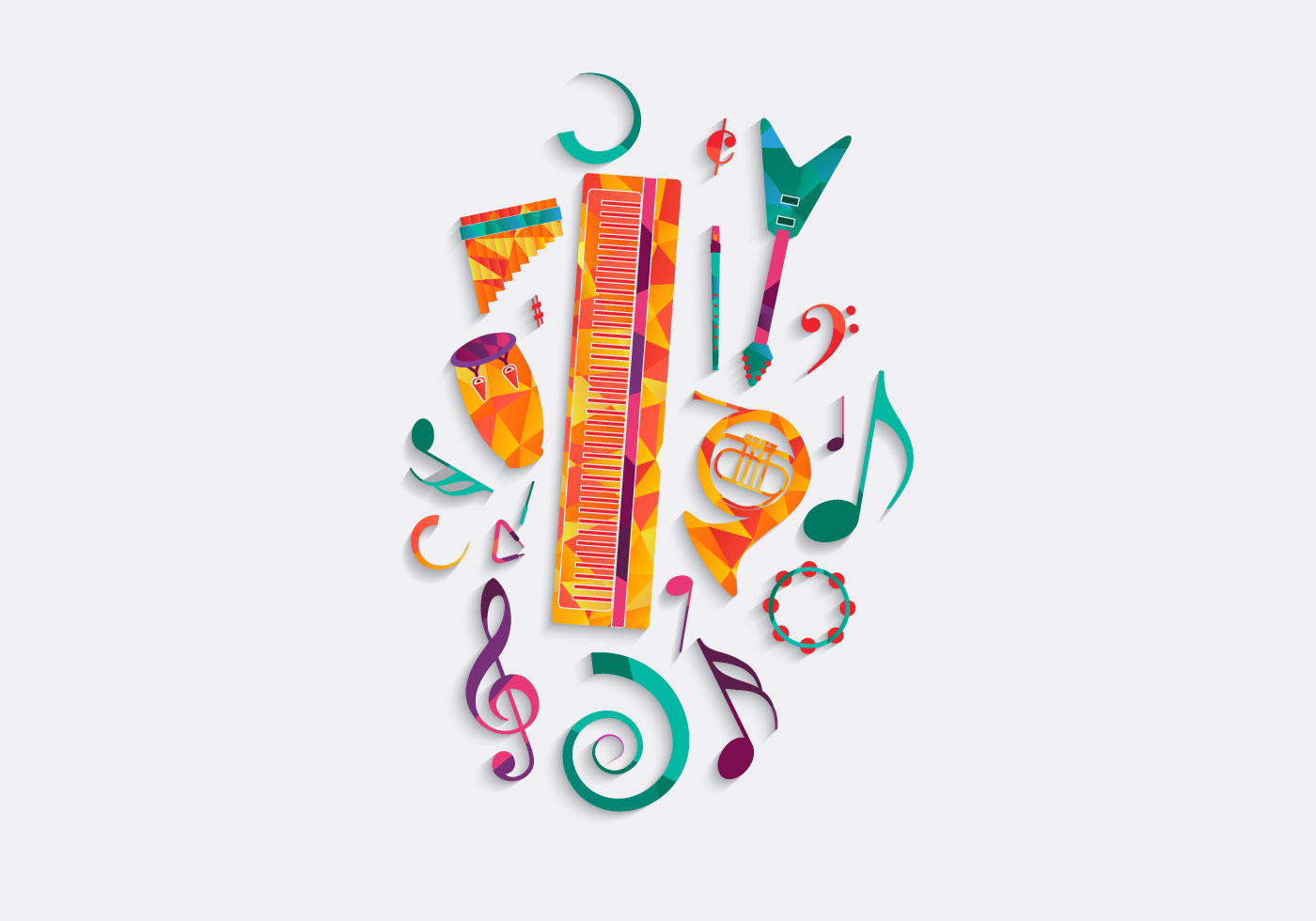 Free Music Background Clipart Download Free Clip Art: Free Music Background Vector