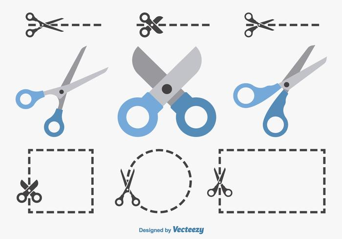 Coupon scissors vector free