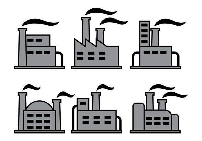 Factory icons vectors