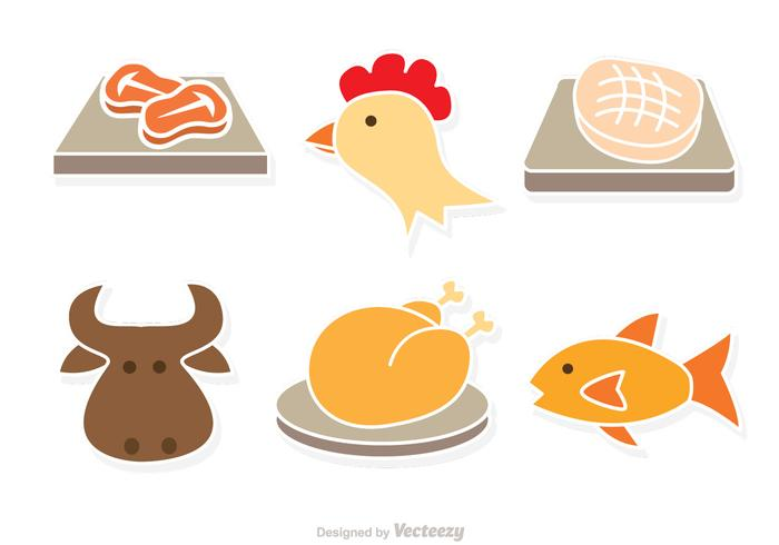 Kind Of Meat Vector