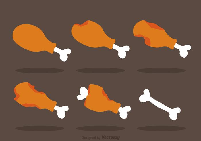 Hühnerbein Vektor