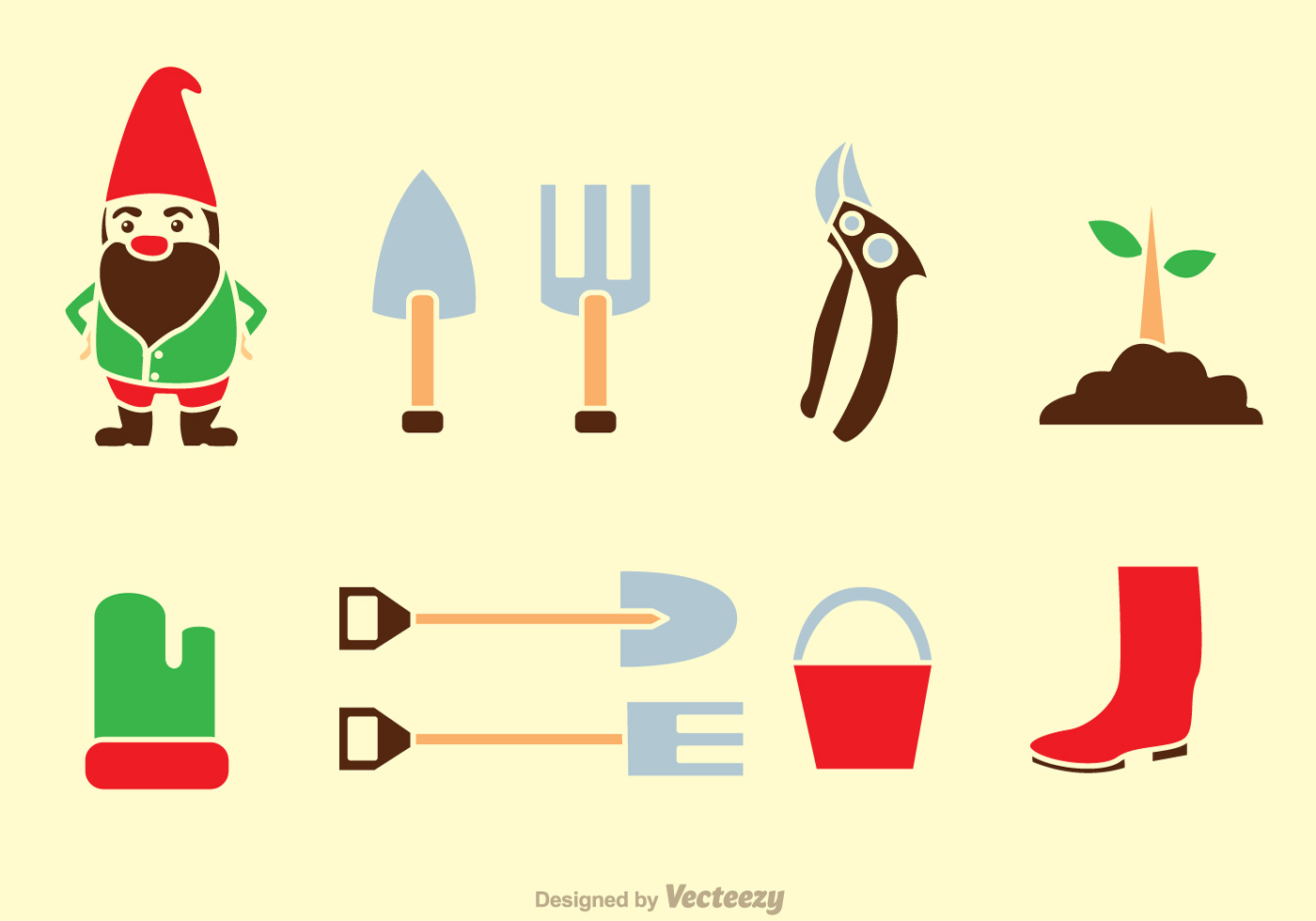 Gardening tools icons download free vector art stock for Gardening tools vector