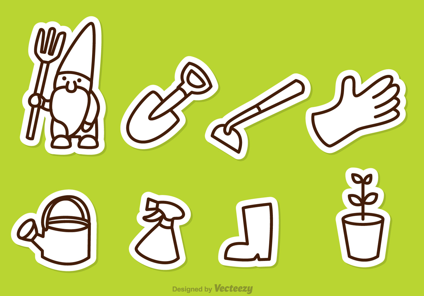 Gardening Outline Icons Download Free Vector Art Stock