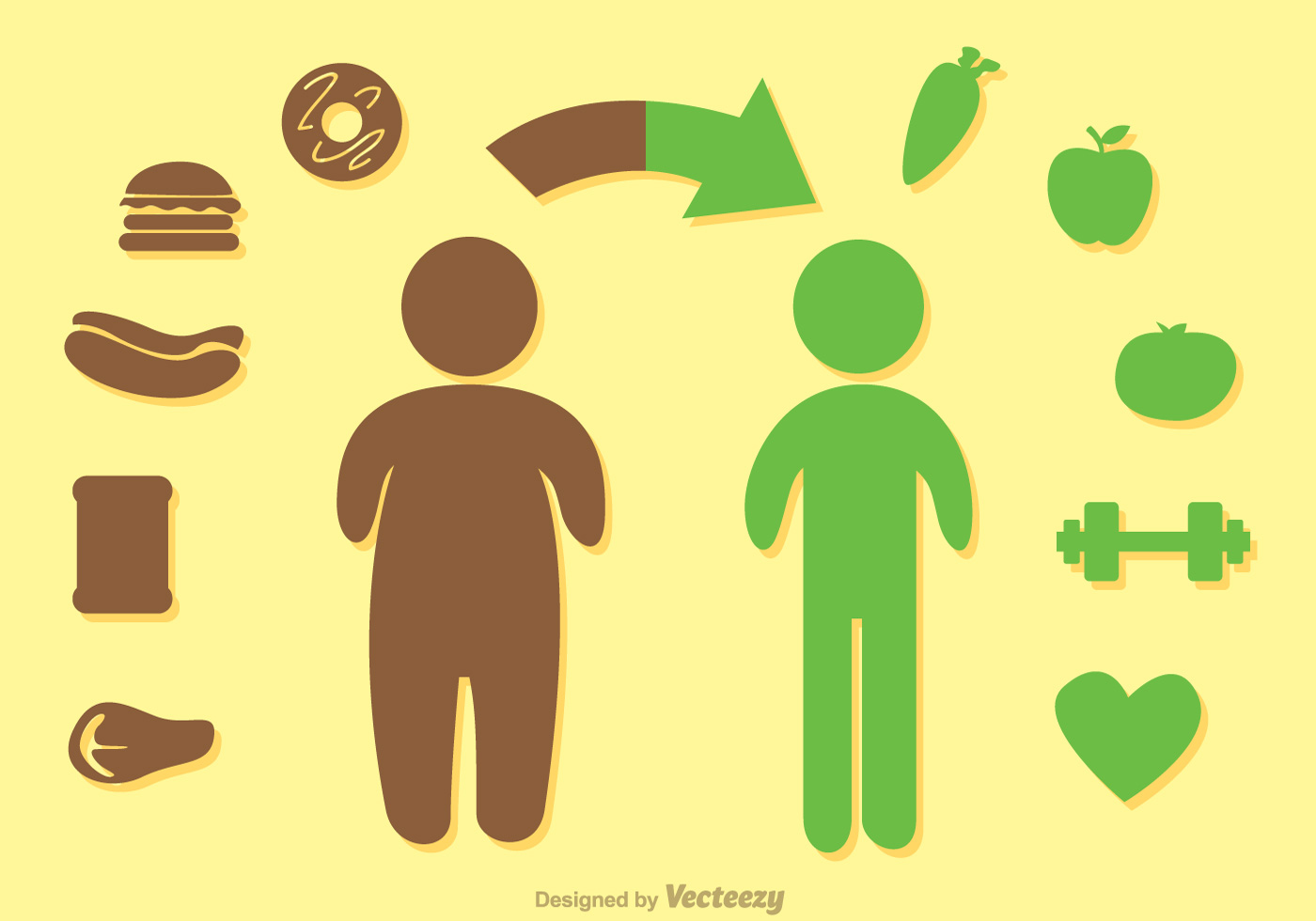 Healthy Diet Vector Illustration Concept