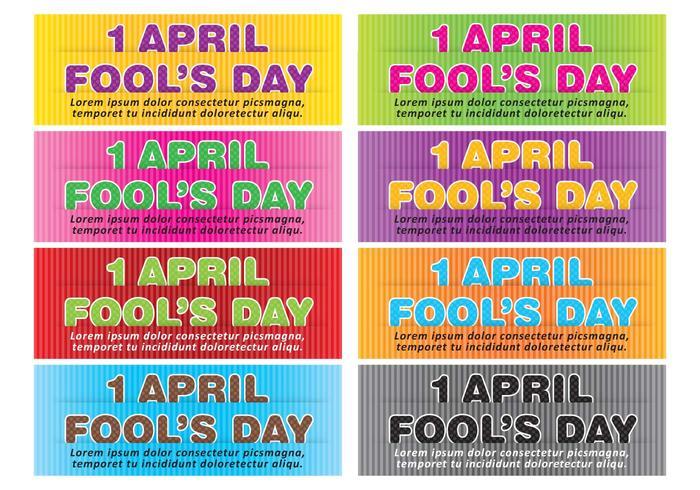 April fools banner vektorer