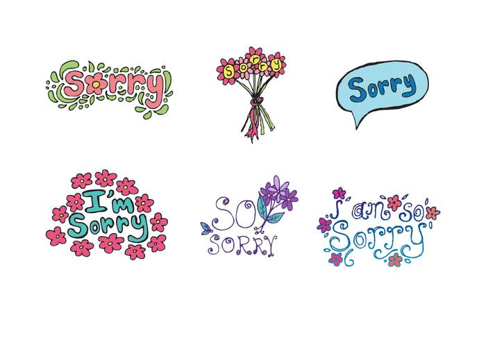 Free Sorry Vector Series