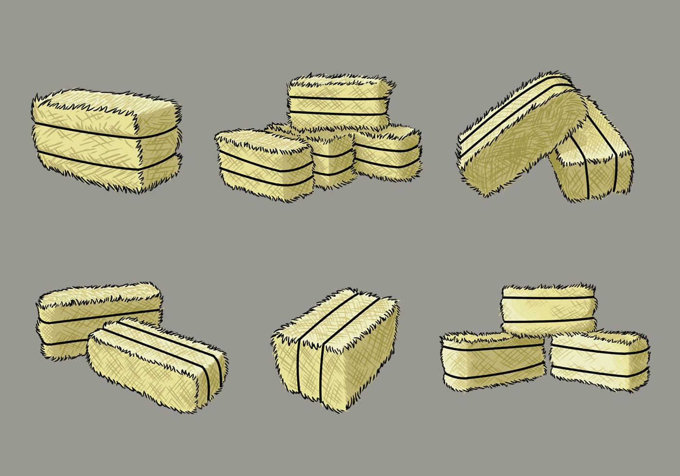 Hay Bale Clip Art : Hay bale vectors download free vector art stock