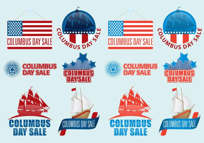 Columbus Day Sale Vectors