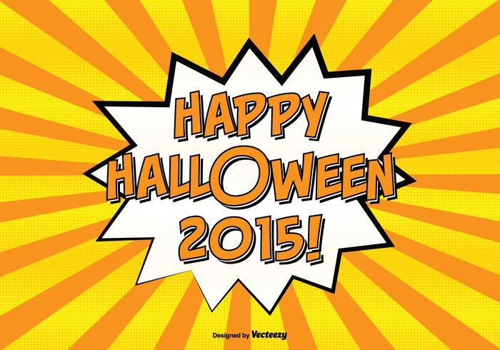 Komisk stil glad halloween illustration