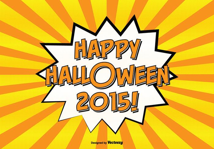 Comic Style Happy Halloween Illustration