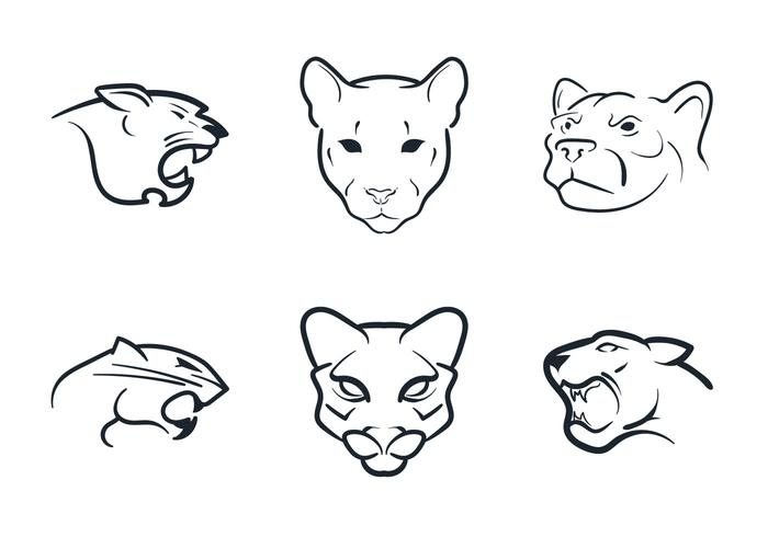 Free Cougar Mascot Vector Illustration