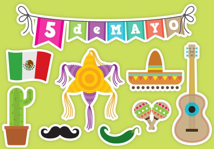 Cinco De Mayo Vector Icons