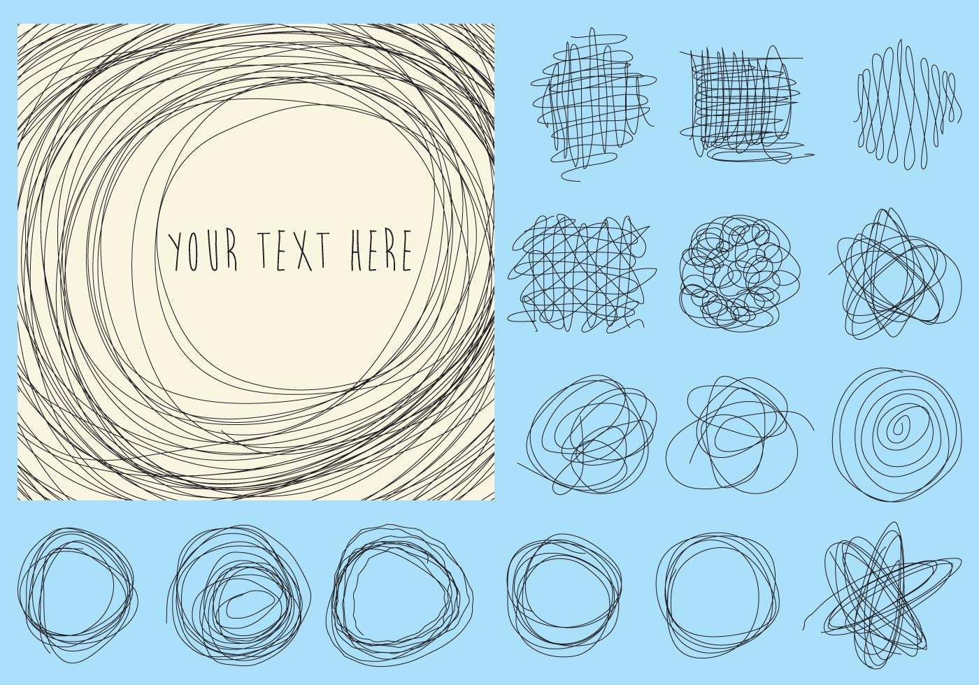 Line Drawing Vector Graphics : Doodles vector lines download free art stock