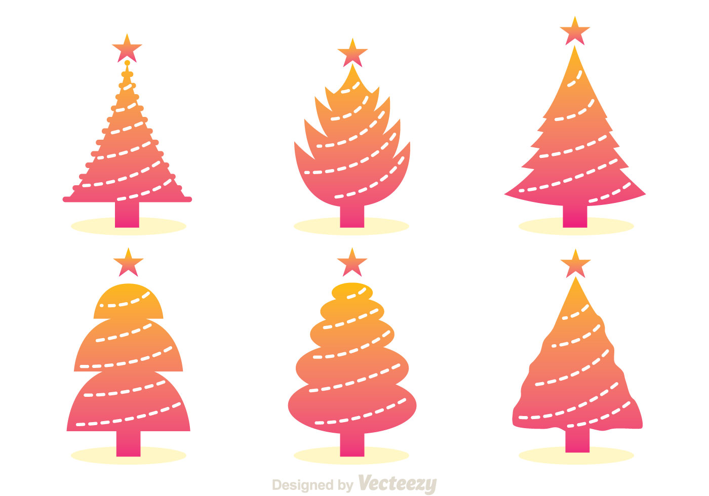 Gradation Christmas Tree Icons