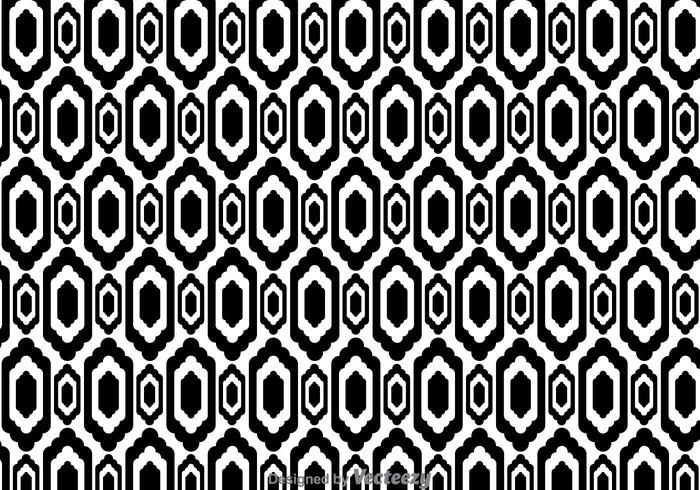 Ethnic Black And White Pattern vector