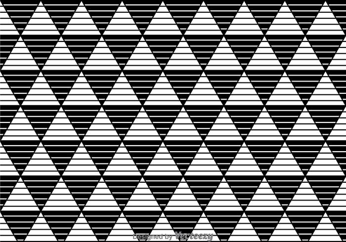 Stripe Triangles Black And White Pattern