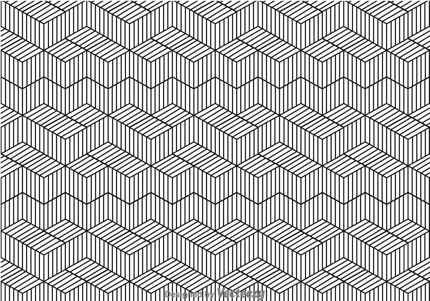 Black And White Line Pattern