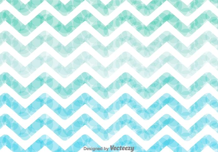 Watercolor Zig Zag Background Vector