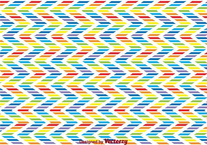 Rainbow Zig Zag Background