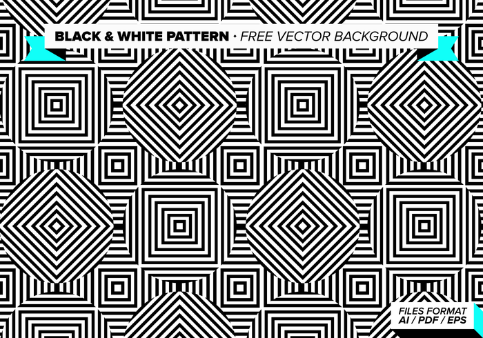 Black And White Pattern Free Vector Background