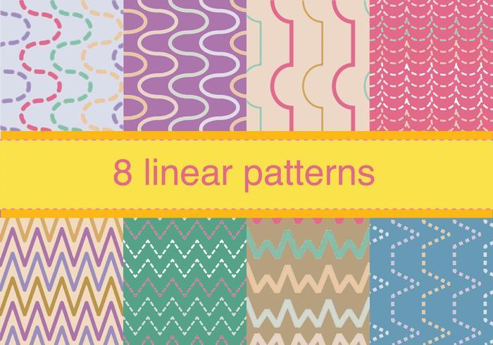 Set of Zig Zag Pattern