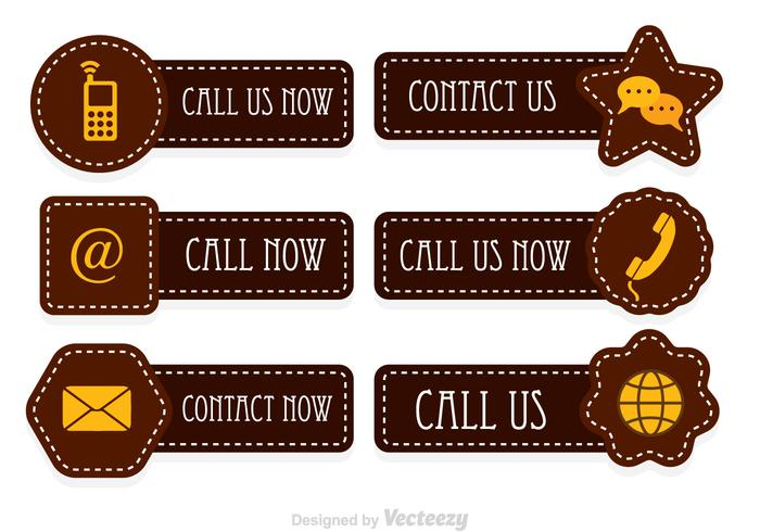 Stitched Call Us Now Vector Icons