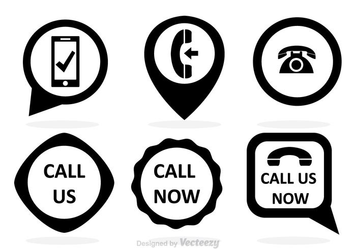 Call Now Black Vectors