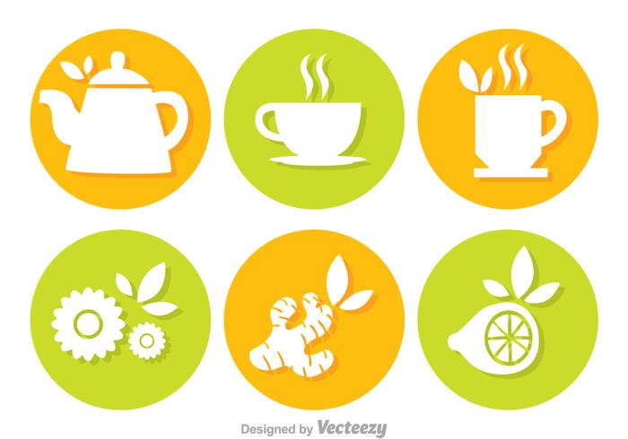 Tea Circle Vectors