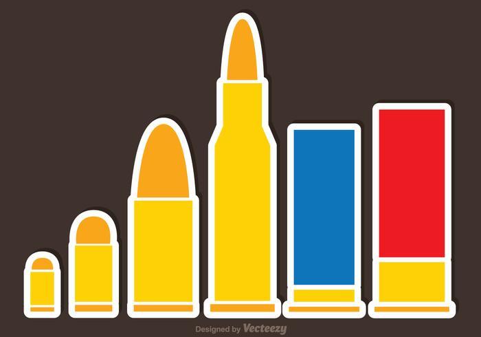 Bullets Flat Vectors
