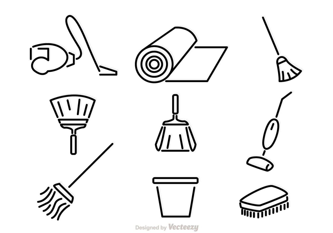 Home Cleaning Vector Icons Download Free Vector Art