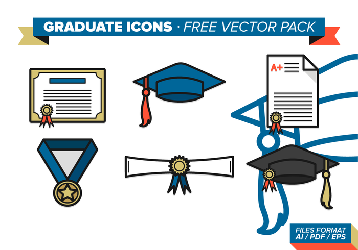 Graduate Icons Vector Pack