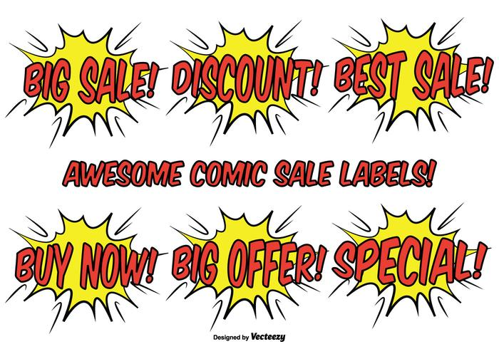 Comic Style Promotional Label Set