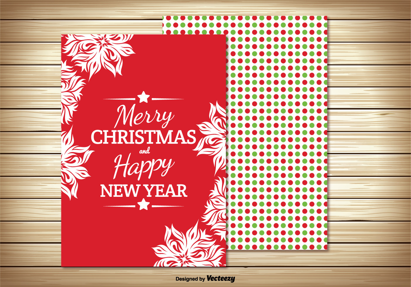 Beautiful Colorful Christmas Greeting Card Download Free Vector