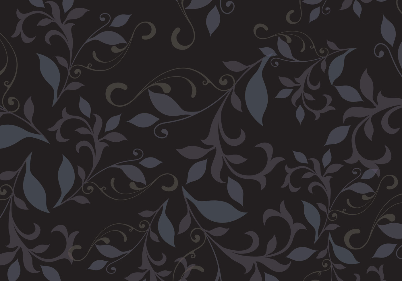 dark floral pattern background vector download free