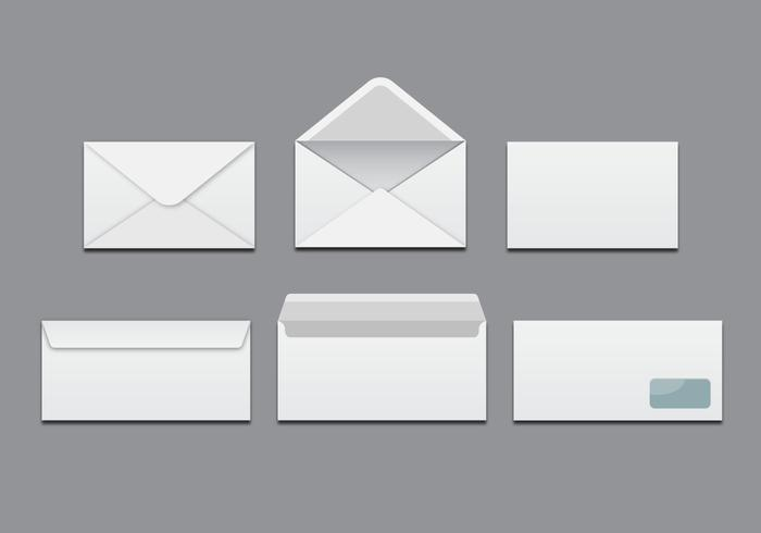 Free White Blank Envelopes Vector