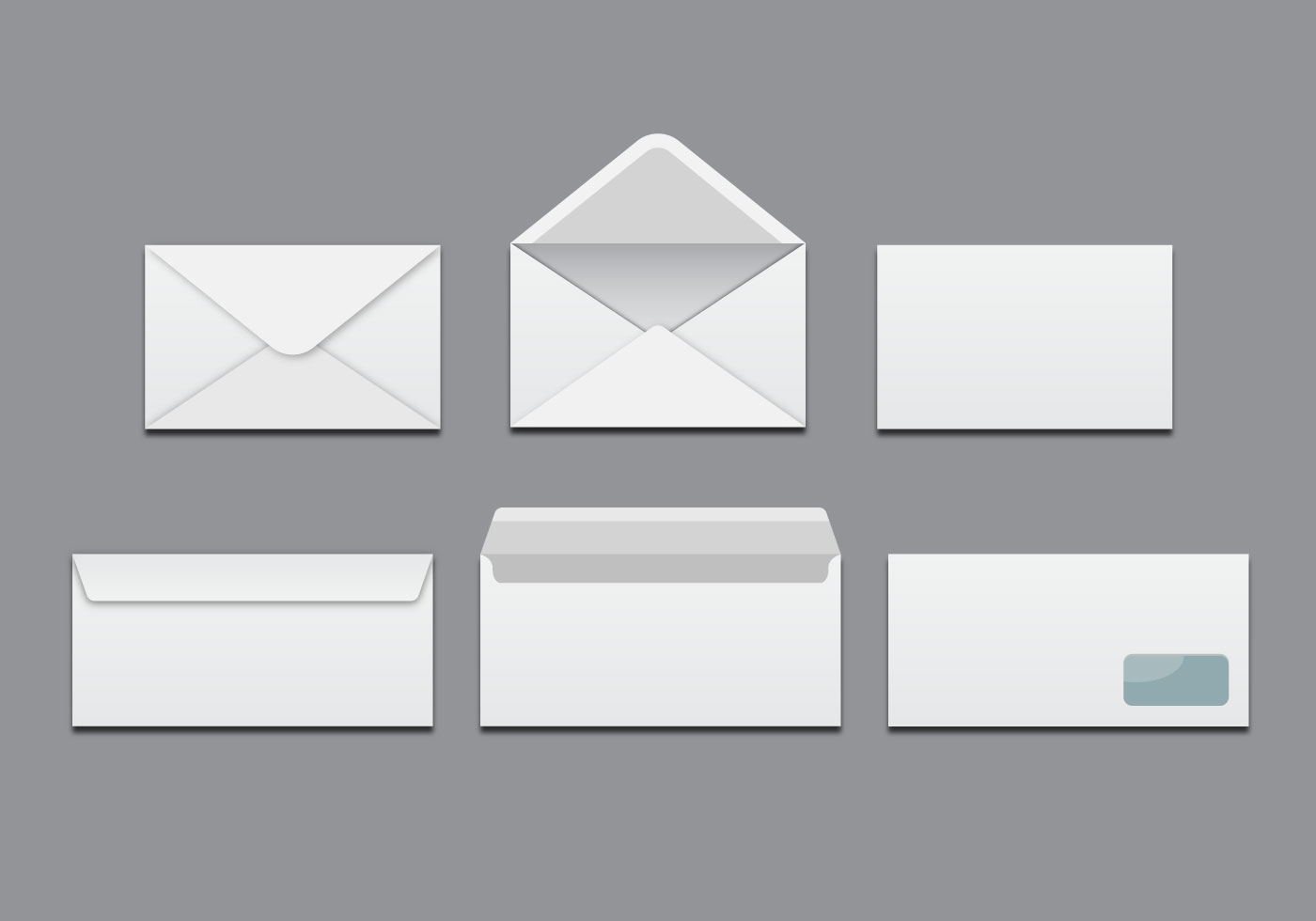 free printable envelope templates - free white blank envelopes vector download free vector