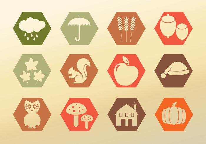 Set Icons Herbst
