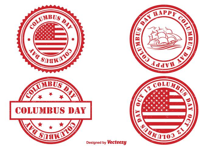 Conjunto de Carimbo do Dia de Colombo