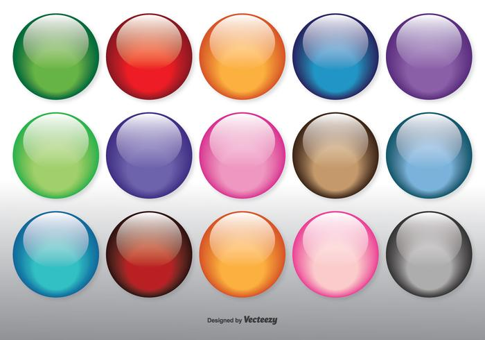 Colorful Glossy Orbs Set