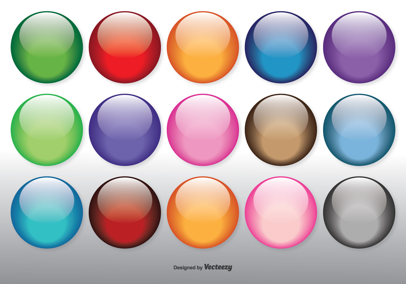 Colorful Glossy Orbs Set Download Free Vector Art Stock