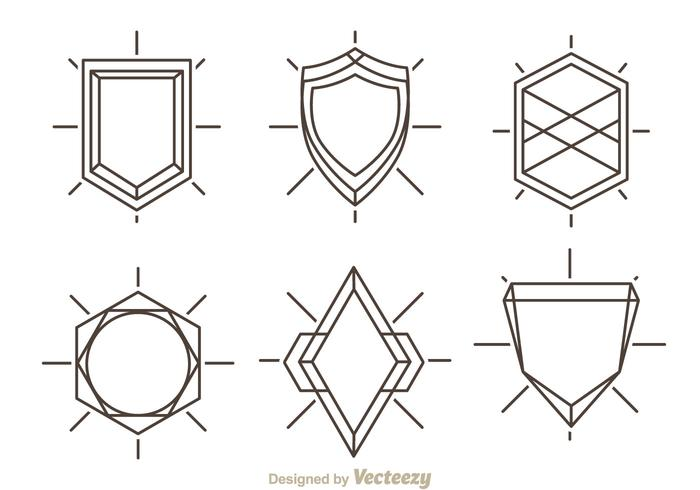Outline Shield Shape