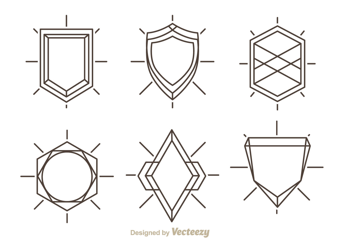 Outline Shield Shape - Download Free Vector Art, Stock Graphics & Images