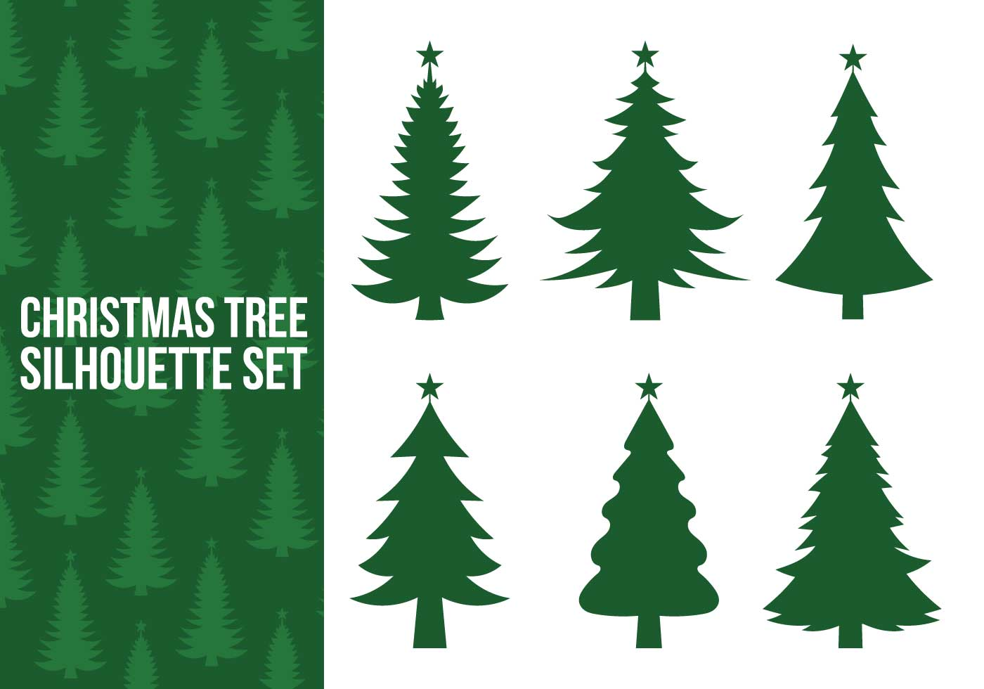 christmas tree silhouette vectors download free vector