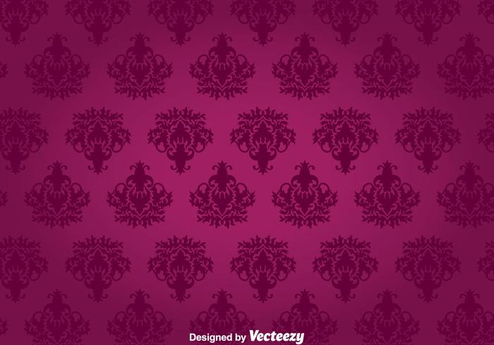 Purple Floral Ornament Wall Tapestry vector