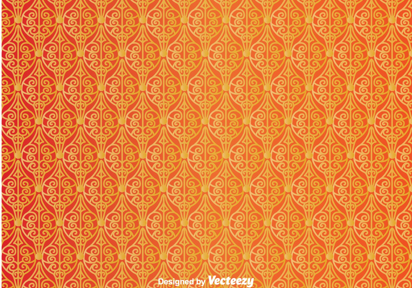 Wall Decorations Orange : Ornament orange wall tapestry download free vector art