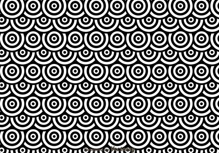 Black And White Dots Circles Pattren