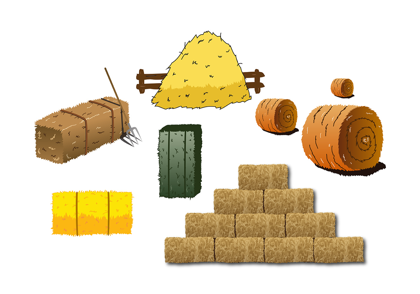 Hay Bale Clip Art : Hay bale vector download free art stock graphics