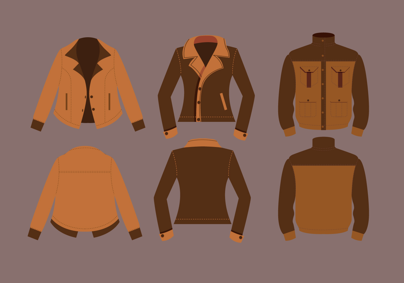 leather jacket vectors